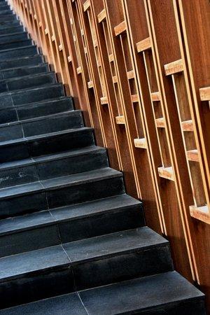 Amanoi: The elegant steps leading up to reception.
