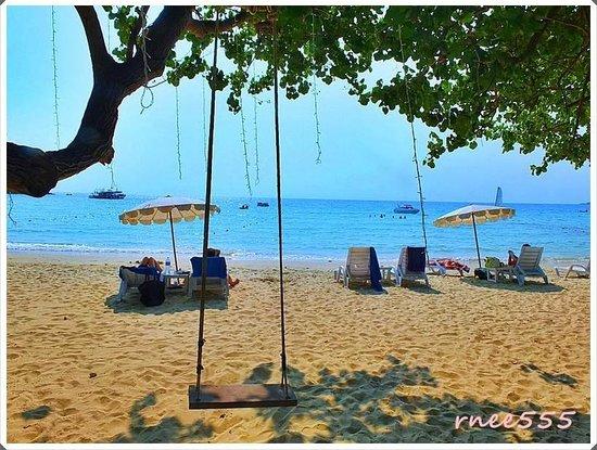 Ao Prao Resort: บรรยากาศริมหาดสวยมาก