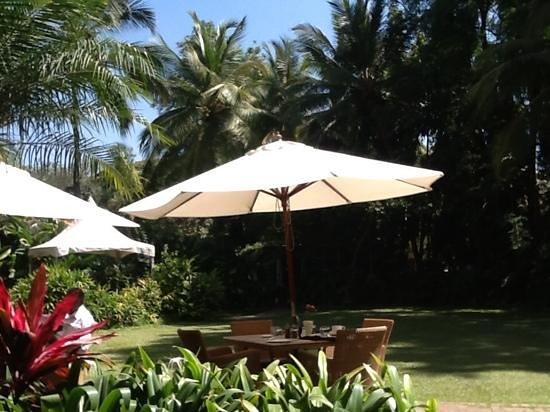 The Taj West End: Breakfast on the terrace