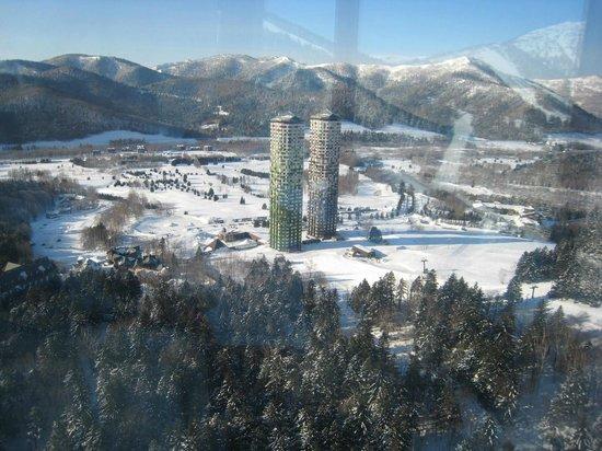 Hoshino Resort Tomamu: ホテルリゾナーレから撮影した朝の風景