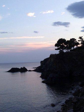 Pista Ciclopedonale Levanto - Framura: Scatto rubato al tramonto sulla pista ciclabile Levanto - Bonassola - Framura