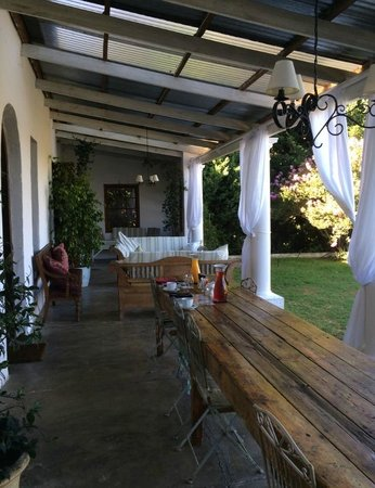 Hawksmoor House at Matjieskuil Farm : terrace