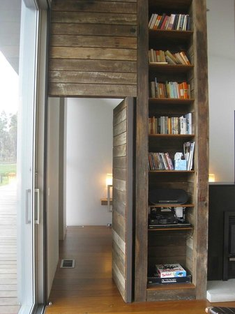The Longhouse: Door to bedroom 2 and library