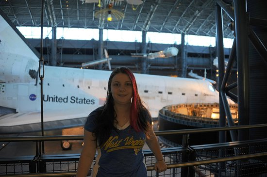 National Air and Space Museum: Me in front of The Space Shuttle.