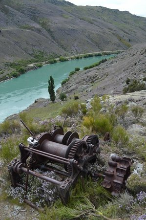 Clutha River Cruises - One Day Cruise : View from the Old Gold Workings at Historic Doctor's point Gold Mine 1860's