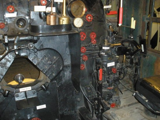 Forney Museum of Transportation : The Fire Box & controls of a Big Boy
