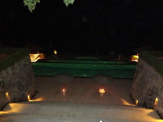 Amankila: Main Pool @ Night