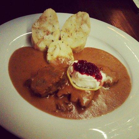 Renomme: Deer creamy sauce with carlsbad dumplings!:) mmmmm