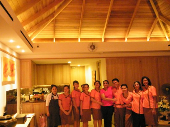 Miskawaan Luxury Beachfront Villas: The staff helped us get their dresses stitched (Adorable as souveniers) and then posed with us