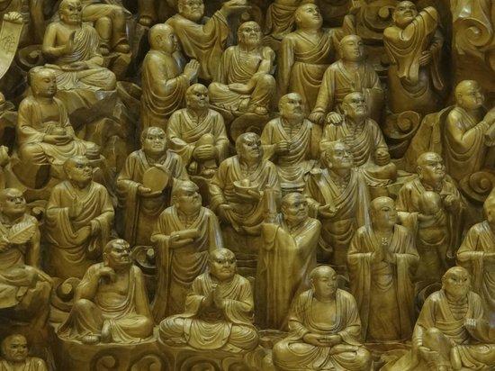 Fo Guang Shan Buddha Museum : Работа по дереву