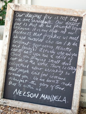 Lavender Farm Guest House Franschhoek: Mandela's words...