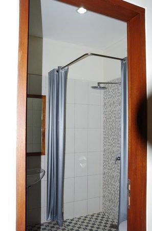 Putri Homestay : Dusche mit WC (nicht sichtbar)
