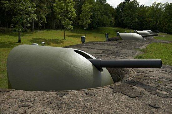 Fort de Mutzig : les canons du fort