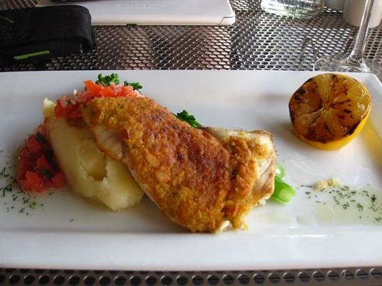 Pee Wee's At The Point : Delicious oven-baked barramundi