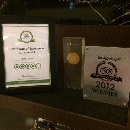 Golden Flower : tripadvisor certificate