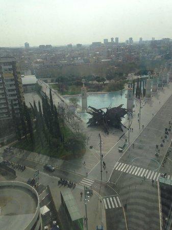 Gran Hotel Torre Catalunya: View from corner room on 14th floor