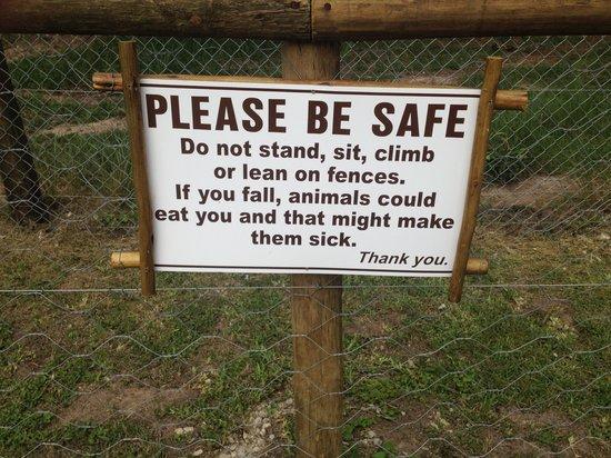 Jukani Wildlife Sanctuary: BE SAFE :)
