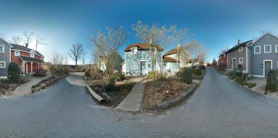 Center Parcs Le Lac d'Ailette : Vue panoramique devant le cottage
