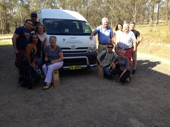 James' Hunter Valley Wine and Vineyard Tours : 14 Dec '13 - Great wine shared with amazing company not mention Hunter Valleys BEST tour guide,