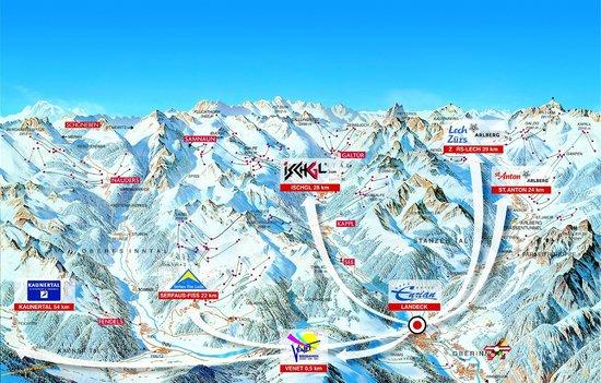Hotel Enzian: Some very good ski-regions in distance of 20 kilometres