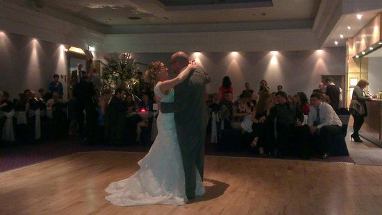 Rosspark Hotel: The first dance. Jan & Mark Downie.