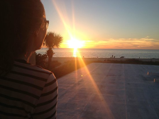 A Beach Retreat on Casey Key: Sunset from Unit 14