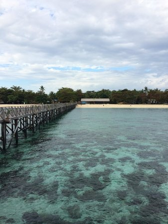 Borneo Divers Mabul Resort: View from Jetty