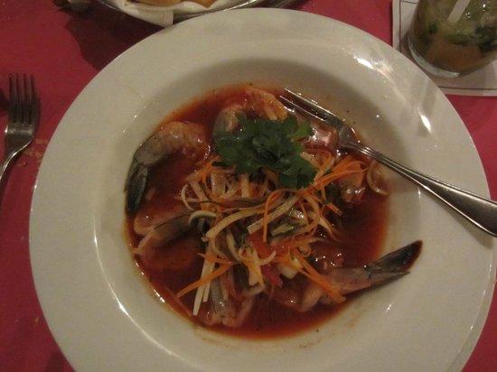 Mayan Palace Riviera Maya: Ceviche with whole shrimp
