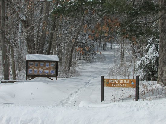 Super 8 Lake George/Downtown: snowshoe anyone to Prospect Mountain
