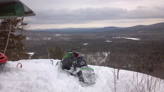 Katahdin Cabins: View from a local vista...by snowmobile