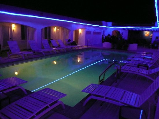 The Westcott: Poolside at night