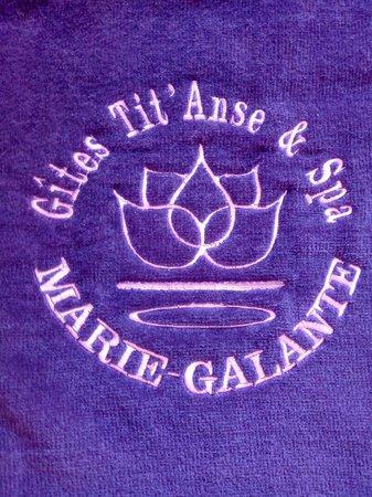 Les Gites Tit'Anse: une serviette imprimée