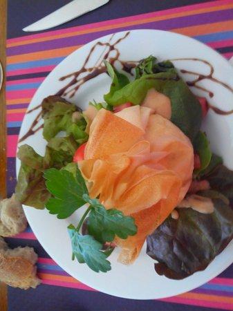 Chez Agnes: Salade aumônière aux fromages