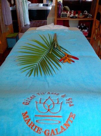 Les Gites Tit'Anse: table de massage