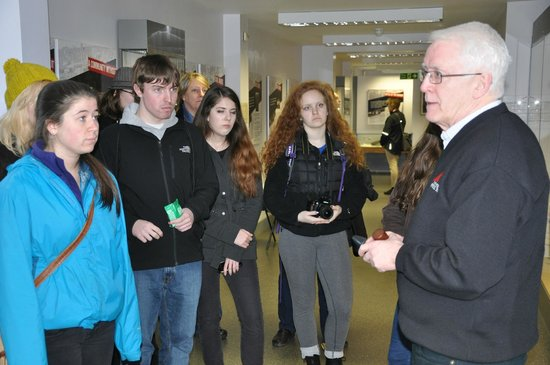 Museum of Free Derry: Students listen to John Kelly