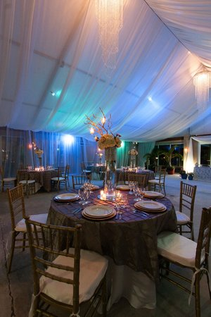 Abaco Beach Resort and Boat Harbour Marina: There is a huge air-conditioned tent on property that happened to be decorated for a wedding.