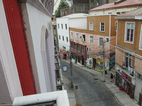 "Hotel Da Vinci Valparaiso: view out the ""balcony"""