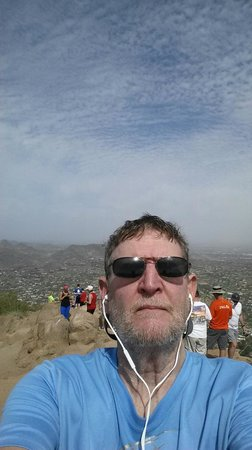 Selfie on top of Camelback Mountain
