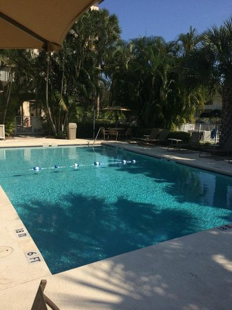 Holiday Inn Express and Suites Fort Lauderdale Executive Airport: Pool area is relaxing and inviting