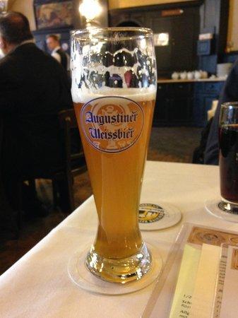 Zum Augustiner: Great Weiss beer