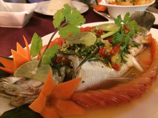 Bussaba Thai Restaurant : Seriously a very good Thai style steam fish, a real fresh fish...