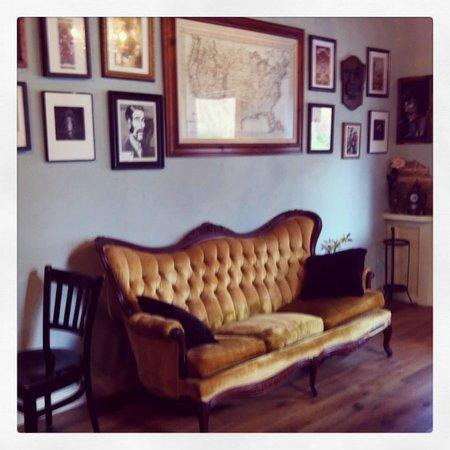 Davenport's Cafe Diem: The dangerously comfy sofa.