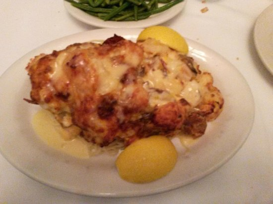 Mary Mahoney's Old French House: Lobster and crab diced and served in a cream sauce on the shell over pasta.