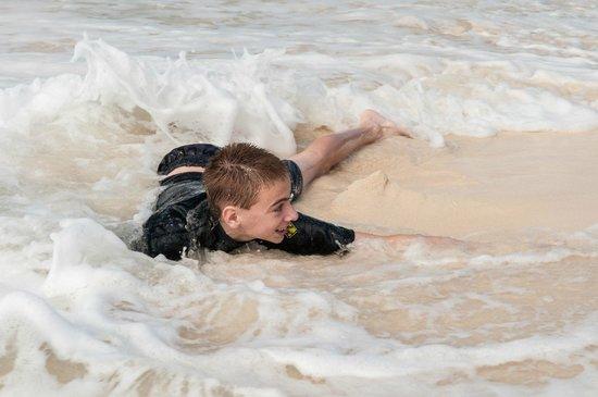 Governor's Beach: Son Enjoying Sand & Surf