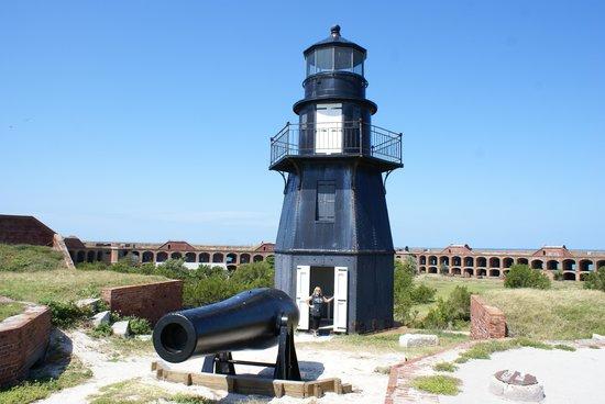 Yankee Freedom III: Lighthouse on upper level of Ft. Jefferson