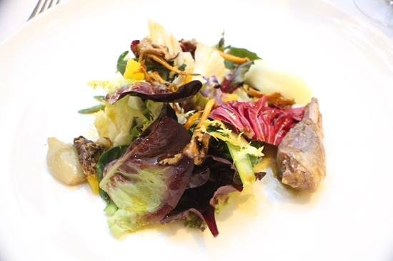Restaurant Montiel: partridge salad
