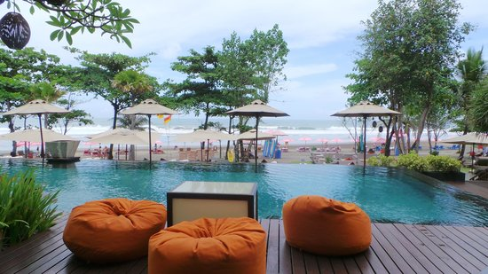 Anantara Seminyak Bali Resort: view from breakfast terrace