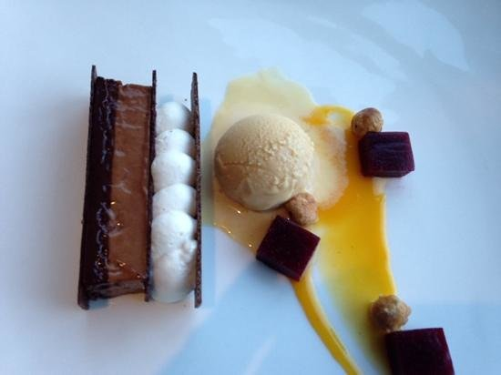AURA waterfront restaurant + patio: A scoop of ice cream made it perfect!