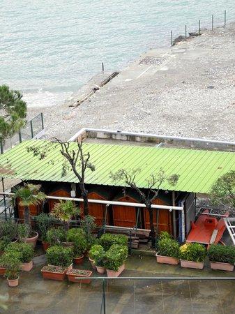 BEST WESTERN Hotel Regina Elena: spiaggia dalla camera