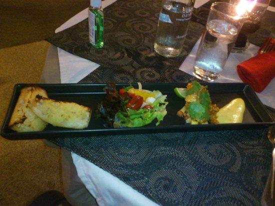Mamma Mia Grill & Restaurant Kamala: crevettes épicées en entrée